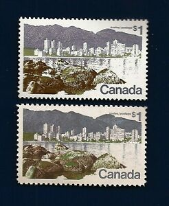 1972 CANADA Canadian Vancouver postage stamps both varieties MNH