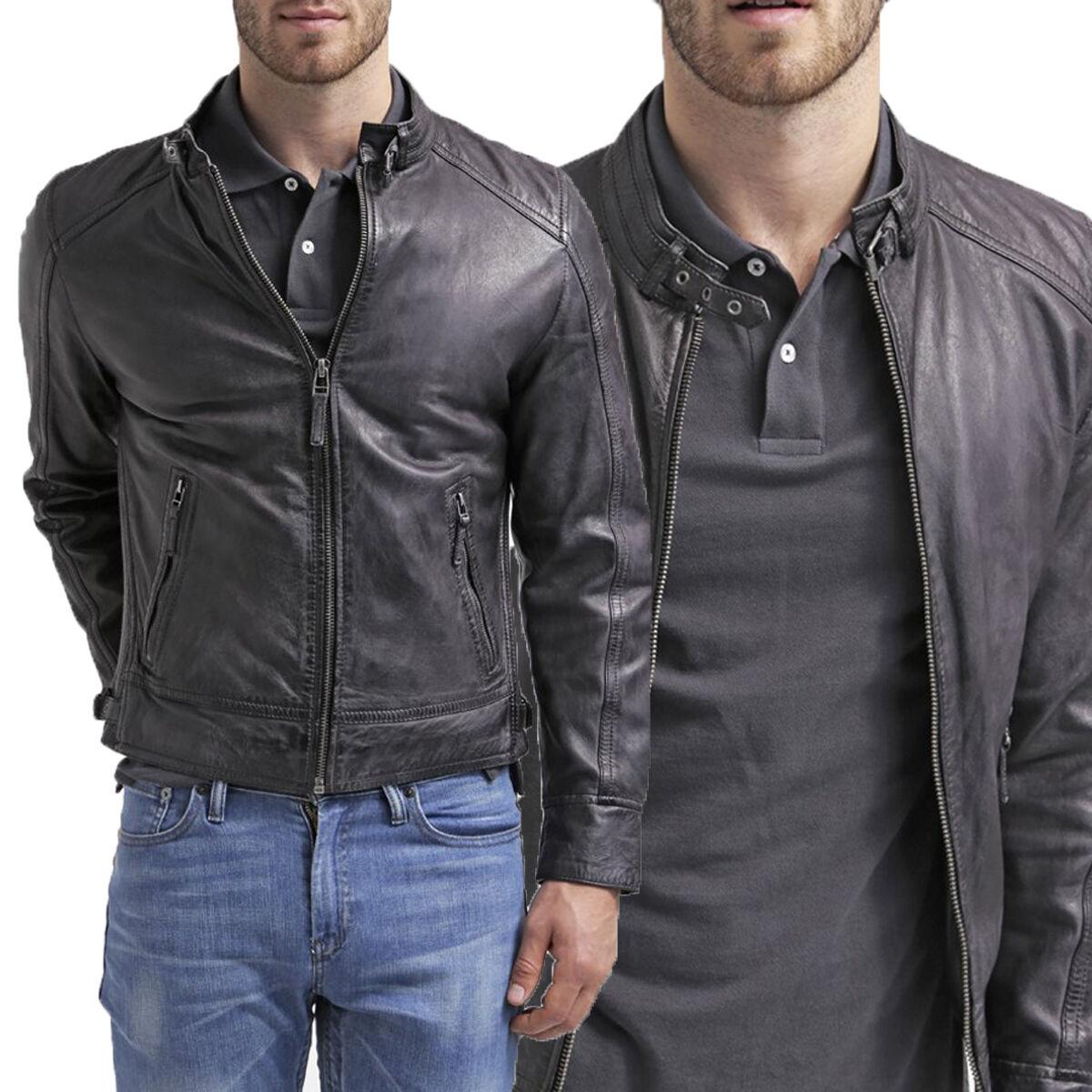 Chaqueta de cuero US Men Hommes veste cuir Herren Lederjacke chaqueta de cuero R67