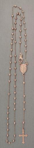 Rosenkranz Kette Silber 925 Rotgold Kugelkette Silberkette Rosario 50 cm 60 cm