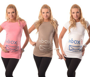 Inbox-Adorable Slogan Cotton Printed Maternity Pregnancy Top T-shirt 2004