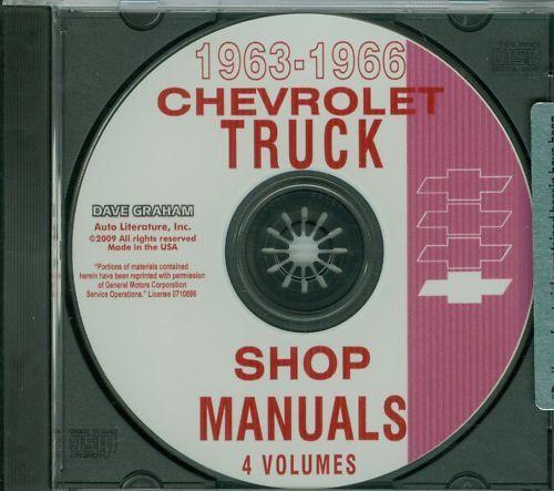 1963 64 65 66 CHEVROLET TRUCK SHOP  REPAIR MANUAL ON CD