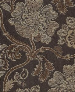 Neima Umber Mill Creek Gold Brown Floral Pattern Upholstery Fabric