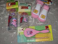 Sesame Street Baby Bottles Booties Brush Comb Pink Elmo Big Bird Infant