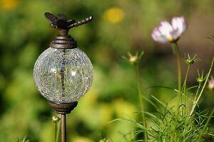 Gartenstab gartenstecker beetstecker glaskugel gusseisen for Gartendeko gusseisen