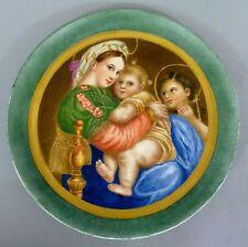 (K048) KPM Bildteller, Madonna della Sedia nach Raphael, Zeptermarke, um 1907