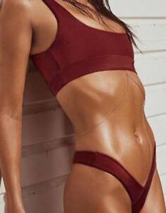 taglia 40 d7815 1754d Dettagli su moda mare costume due pezzi fascia rosso sgambato slip sexy  bikini 5420