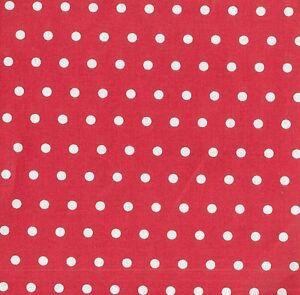 Stoff-Baumwolle-Swafing-Leona-beschichtet-rot-Wachstuch-weisse-Punkte-6mm