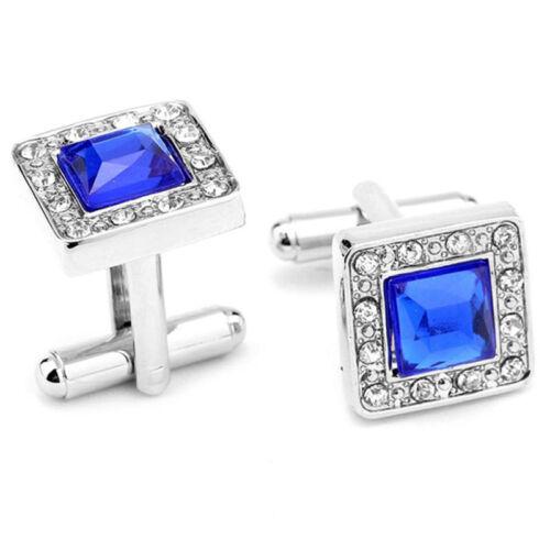 7 Negro Clásico De Plata Oro Azul Piedra Cristal gemelo con bolsa de almacenamiento gratuito