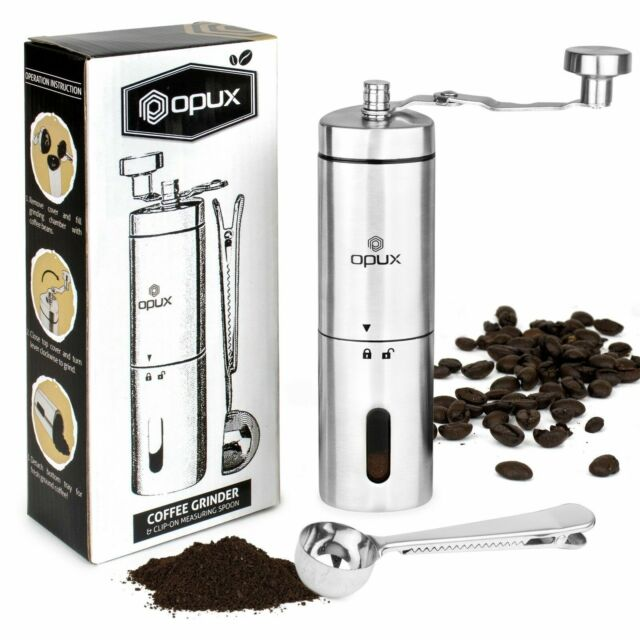 Home & Kitchen Brushed Stainless Steel with Adjustable Whole Bean ...