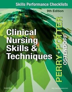 Skills Performance Checklists for Clinical Nursing Skills and Techniques by... 9780323482387