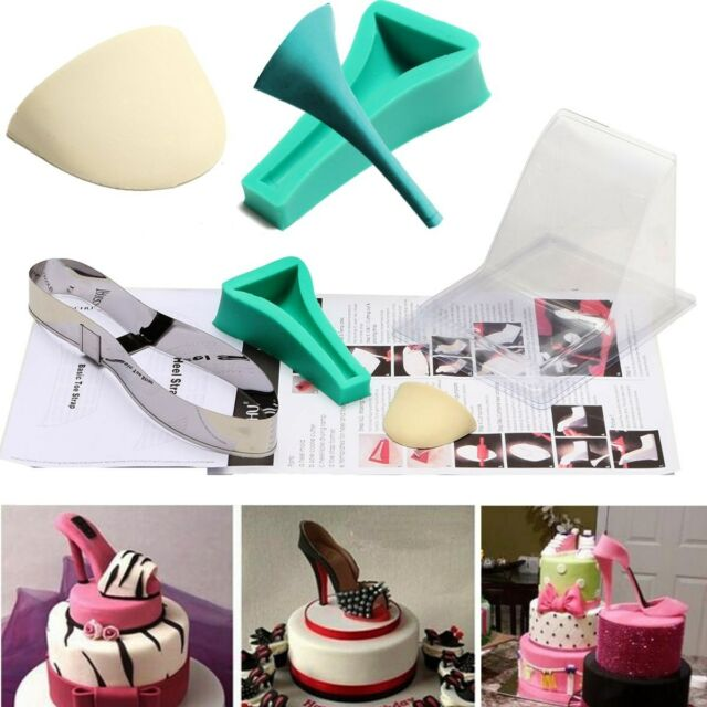 High Heel Shoe Kit Fondant Mould Wedding Cake Decorating Template Silicone Mold