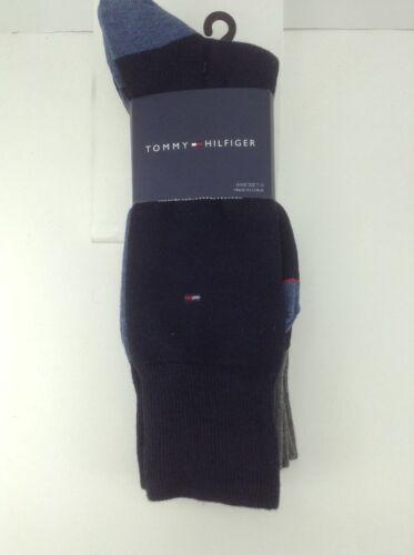 4 Pack Men/'s TOMMY HILFIGER Blue Charcoal 26/% COTTON Dress Socks $36 MSRP