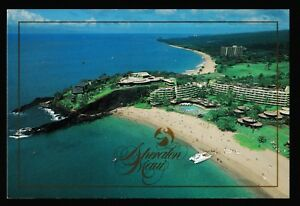 Details About Vintage Sheraton Hotel Kaanapali Beach Maui Hawaii 4 X 6 Postcard