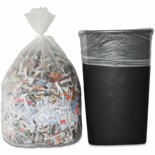 100 Bags CCLINERS 6 Gallon Clear 13 Mic Kitchen Trash Bag 26L x 22W inch
