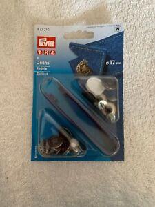 Prym 21  Nähfrei-Jersey Ringdrucker 8 mm weiß,hellblau rosa 390700