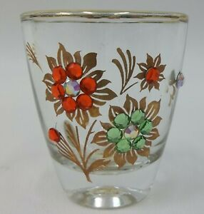 Vintage-Jeweled-Shot-Glass-Made-in-Western-Germany