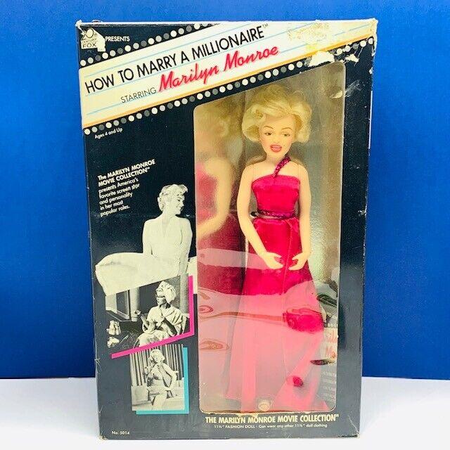 Marilyn Monroe Muñeca Tristar cómo casarse con millonario Caja de Colección de película 1982