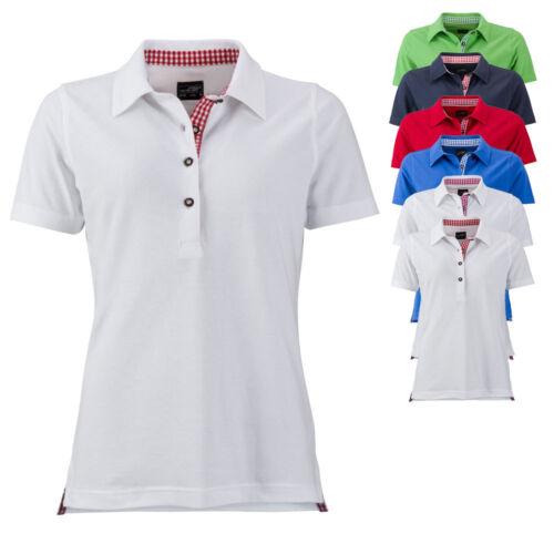 James /& Nicholson Damen Poloshirt LADIES TRADITIONAL POLO Hemd Neu JN715