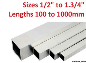 Details about ALUMINIUM SQUARE BOX SECTION TUBE 1/2