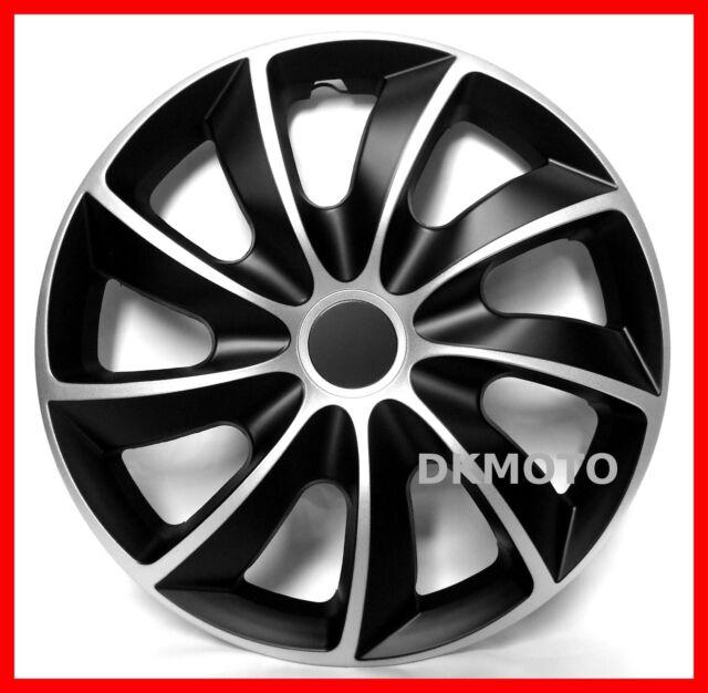 4x15'' Wheel trims for Mercedes A Class full set - black/silver 15''