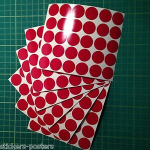 Round-Colour-Code-dot-Stickers-Coloured-Circles-Sticky-Adhesive-spot-Labels