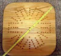 23  Wooden Oak Aggravation Game Board - Up To 6 Players.