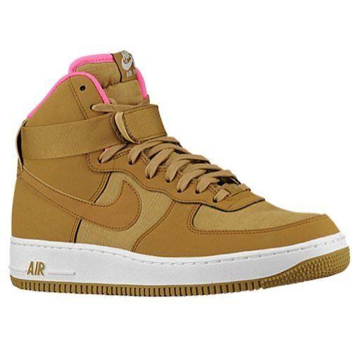 nike air force 1 hohe '07 schuhe herren - basketball - schuhe '07 goldenen tan - rosa sz.9,5 79fafd