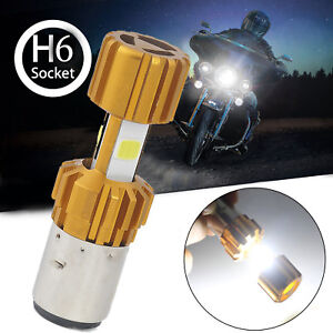 H6-BA20D-DC-12V-18W-6000K-COB-LED-Motorcycle-Hi-Lo-Beam-Headlight-Bulb-White
