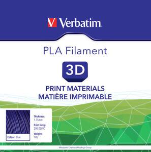 3d Printer Filament Mitsubishi Verbatim Pla Blue Colour 1.75mm 1kg/roll # 55269 Promote The Production Of Body Fluid And Saliva 3d Printer Consumables