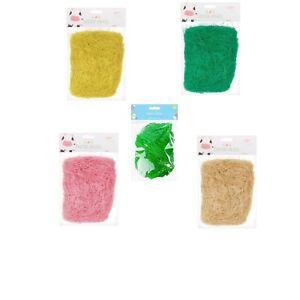 Easter-Grass-Decoration-Bonnet-Basket-Hats-Kids-Arts-Crafts-Fake-Grass-Straw-32g