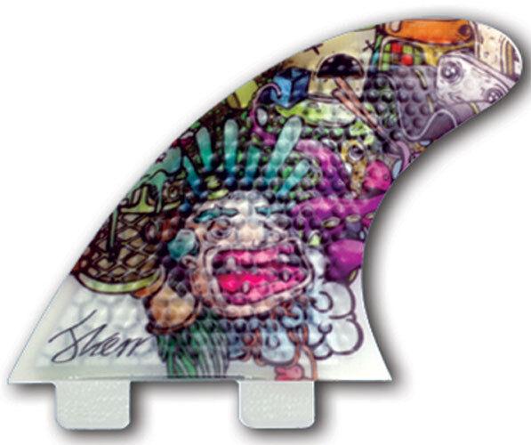 3 dfins - 4.0 XDS (FCS) - Pequeño-Granizado-Propulsor-Tabla de Surf-Surf-Nuevo