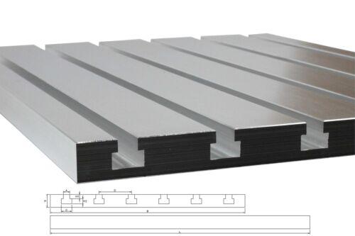 T-Nutenplatte 2020 50mm Nutenabstand aus Gussaluminium DIN508 für CNC Fräse