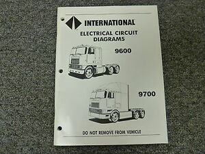1988-1989 international 9600 cl9670 xl 9700 electrical wiring ... 1989 international wiring diagram  ebay
