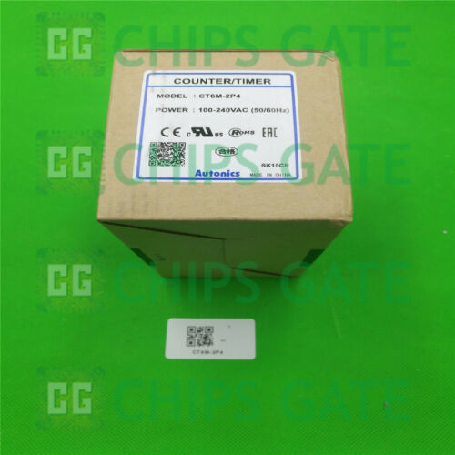 1PCS Brand New in Box Autonics compteur CT6M-2P4 100-240VAC Fast Ship
