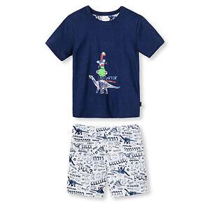 Schiesser-garcons-pyjama-Monster-Pyjama-court-104-116-128-140-lingerie-de-nuit