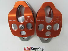 2 Pack 34 Double Pulley 34 Capacity Arborist Climbing Rigging 35kn 7800lb
