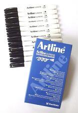 Artline Whiteboard Marker Pens ** Box Of 12 ** BLACK INK **