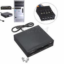 "3.5"" All In 1 Multi Internal Card Reader USB 2.0 9 Pin Flash Memory SD MS CF TF"