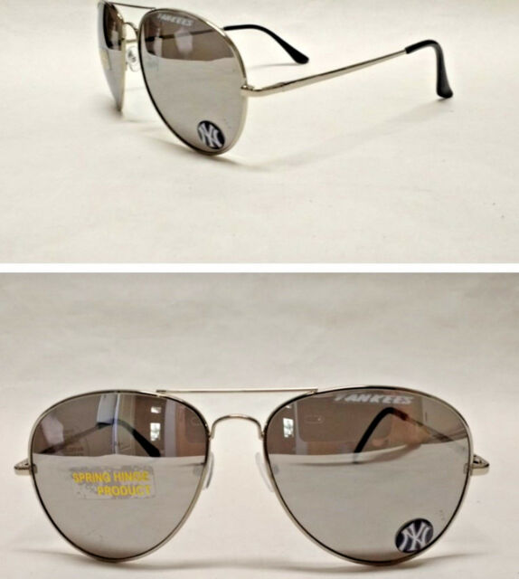 Read Listing! New York Yankees XLGE 3D logo on mirrored Aviator Sunglasses.