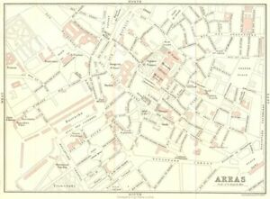 Calais Town Plan 1913 Old Antique Vintage Map Chart Antiques Pas-de-calais Europe Maps