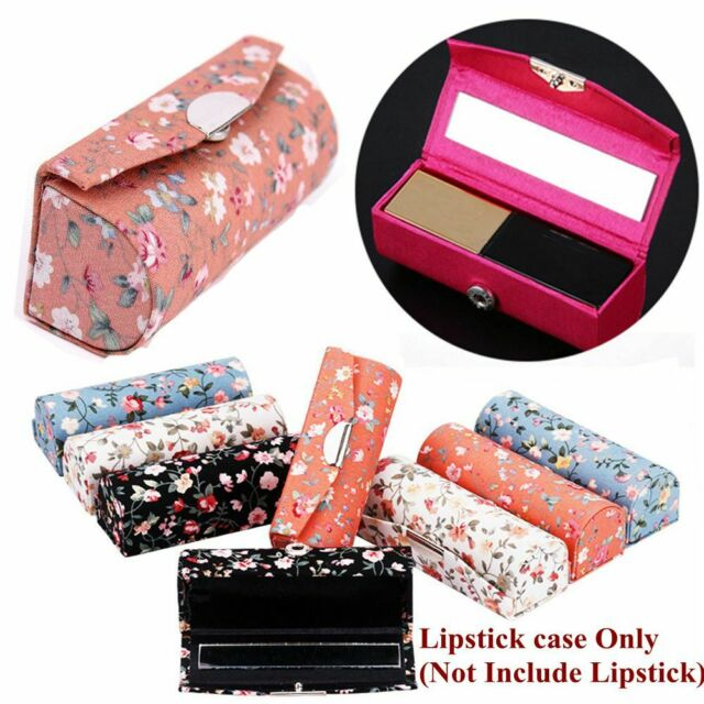 Gift Flower Designs Lip Gloss Box Mini Mirror Jewelry Holder Lipstick Case