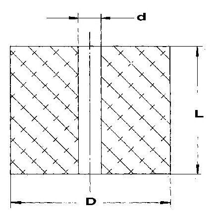 EFFBE Elastomer Federn DIN 9835 Typ 295 AD 40 mm L 50 mm