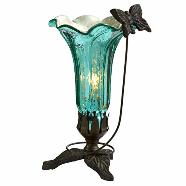Stained Glass Table Lamp Accent Light Desk Art Deco Mission Craftsman Victorian