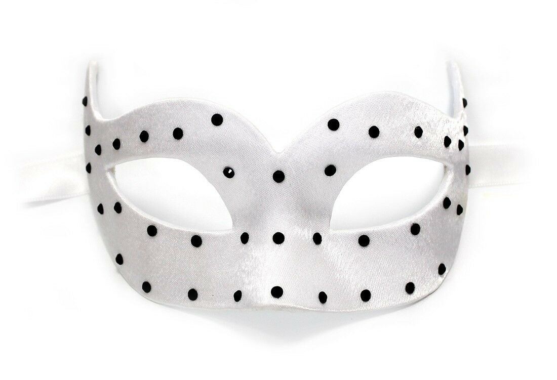 Handarbeit Original Venezianische Maske Damen Damen Damen Colombina Pois weiss  | Billig ideal  | Schön In Der Farbe  | Neuer Stil  | Shop  | Verschiedene aktuelle Designs  49420a