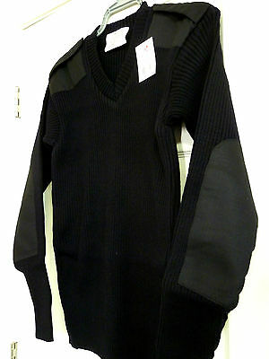 MILITARY BLACK V-NECK MENS SWEATER NATO STYLE ACRYLIC ROTHCO S M L XL 2X 3X 4X