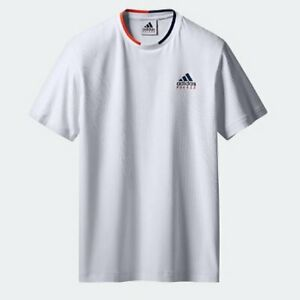 adidas-x-PALACE-SKATEBOARDS-Wimbledon-Jacquard-Tee-Sizes-L-XL-White-Brand-New