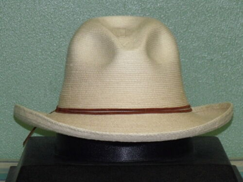 SUNBODY RB/'S FINE PALM SLOPED FEDORA HAT