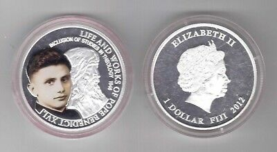 Fiji Silver Plated 1$ Proof Coin 2012 Year Life And Works Pope Benedict Xvi In coa Fashionable Style;