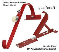Qualcraft 2481 Ladder Hook W Wheel Durable Steel Roof Top Ridge Acro Ladder 2500