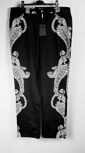 44 Nero spandex Paisley laterale Jones Motivo cotone Pantaloni Bianco gr RaTUxqdTwY